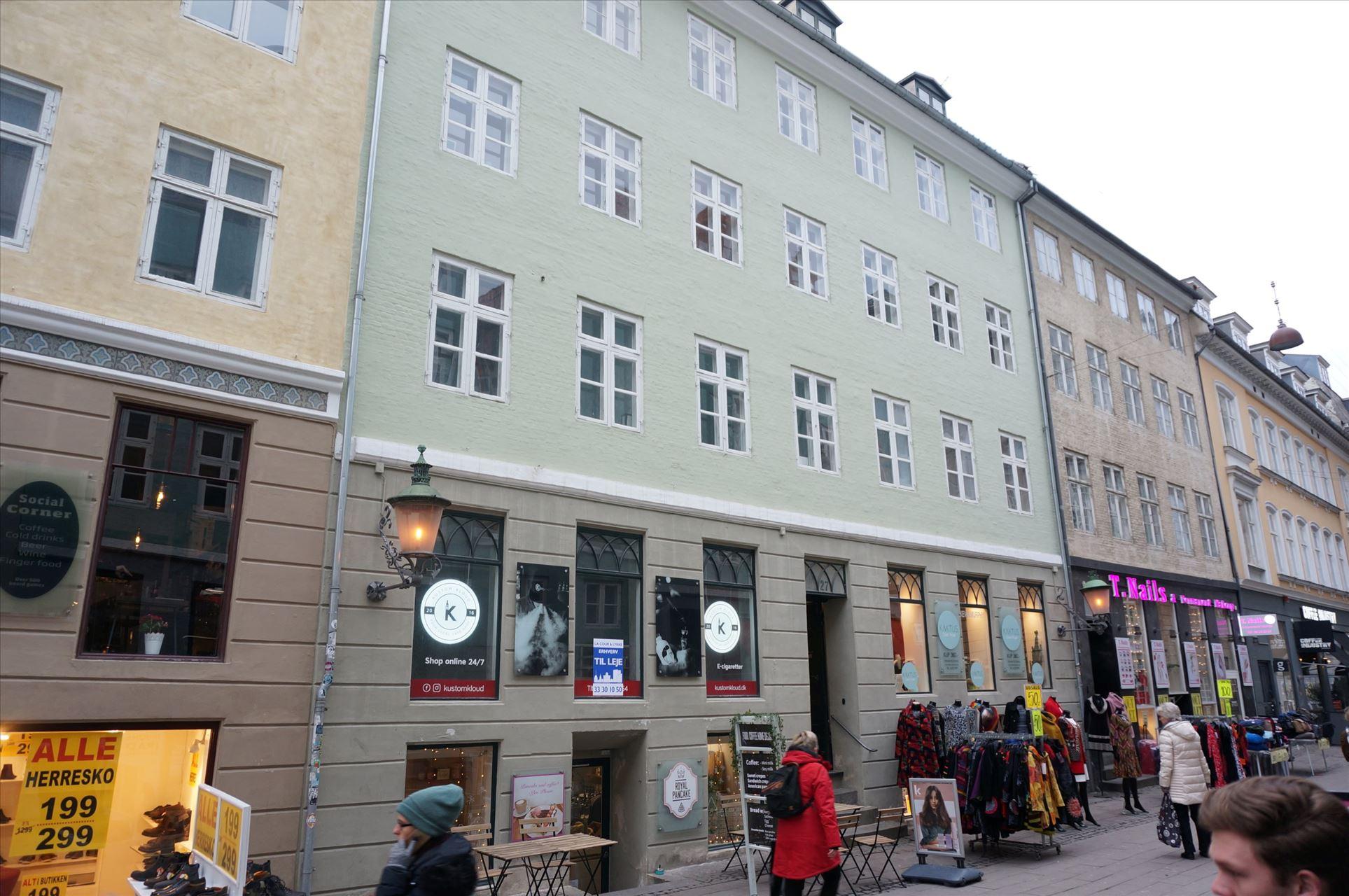 65 m² i Fiolstræde – flot butik