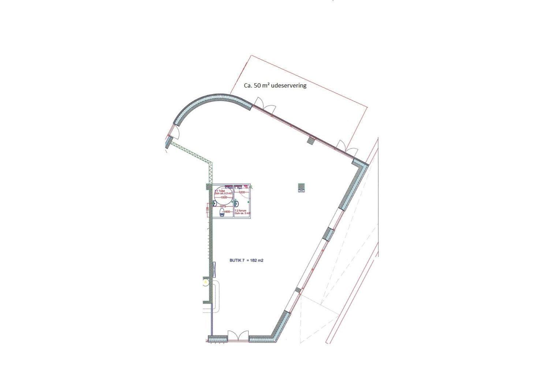 Plantegning - Amager Strandvej 140, butik 7