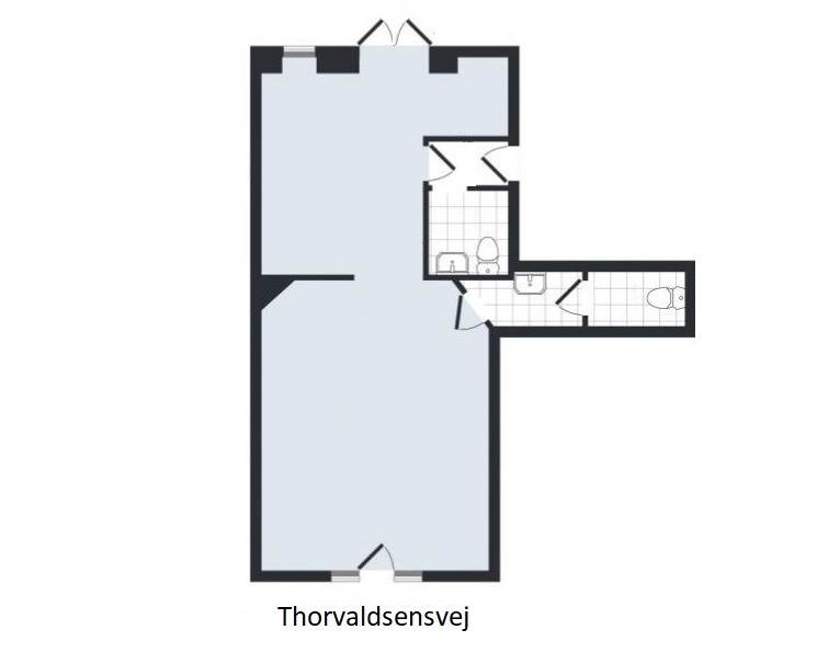 Plantegning - Thorvaldsensvej 2C, st.