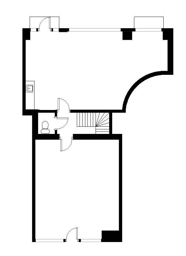 Plantegning - Åboulevard 3, st. 1.