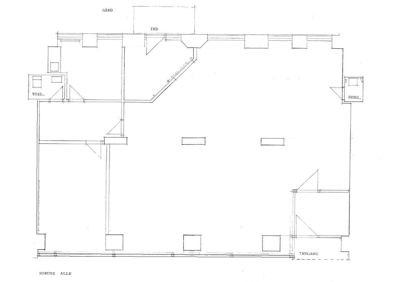 Plantegning - Borups Alle 121, st. 2.