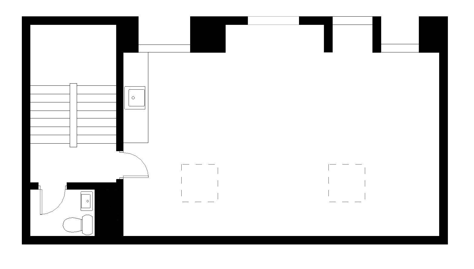 Plantegning - Kompagnistræde 22D, 2. sal
