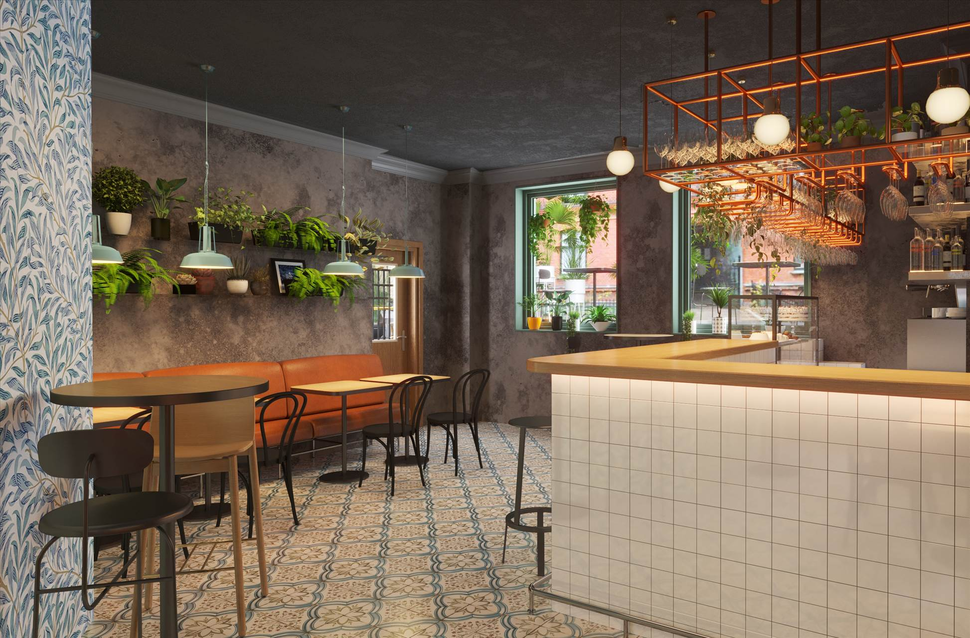 82 m² restaurant / café