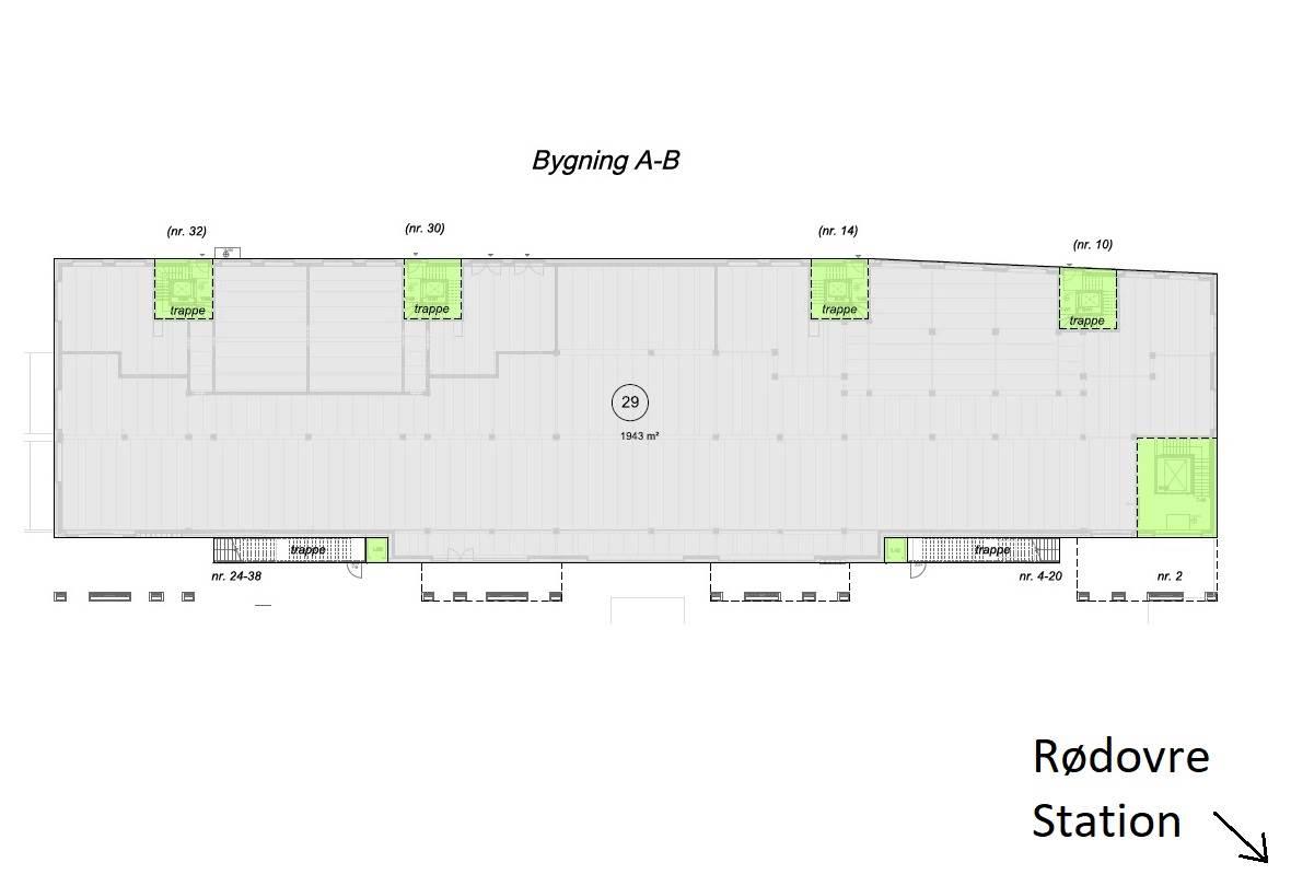 Plantegning - Rødovre Port 2, bygning A+B