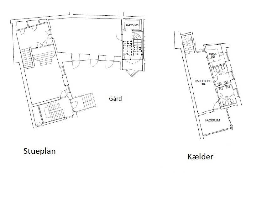 Plantegning - Kompagnistræde 32A, st. th.