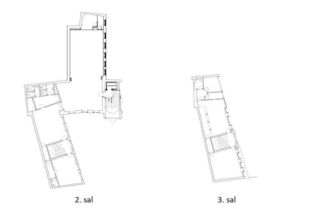Plantegning - Kompagnistræde 32A, 2+3. sal