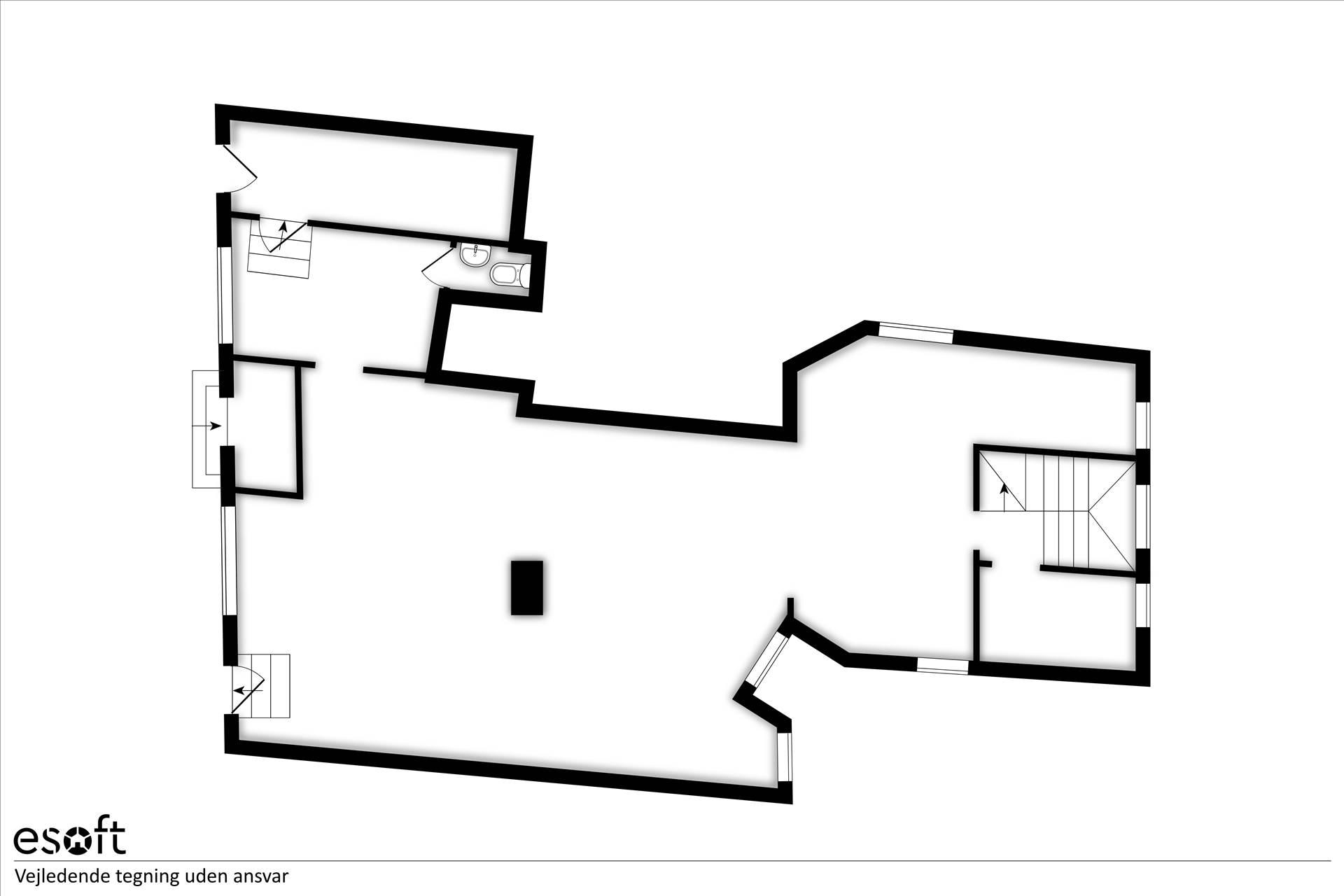 Plantegning - Toldbodgade 8A, kld.